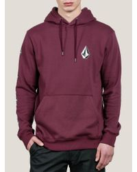 Volcom - Purple Supply Stone Pullover Hoodie for Men - Lyst