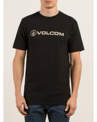 Volcom - Black Lino Euro Tee for Men - Lyst