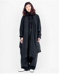 Uzi - Coarse Cotton Robe / Black / O/s - Lyst