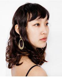 Modern Weaving - Multicolor Large Oval Hoop Earrings - Lyst