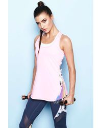 ELLE Sport - Pink Styled Workout Sports Tank - Lyst
