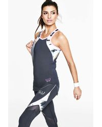 ELLE Sport - Blue Navy Performance Vest Bust Shelf - Lyst