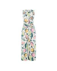 Warehouse | Multicolor Decoupage Jumpsuit | Lyst