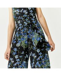 Warehouse - Black Full Bloom Jumpsuit - Lyst