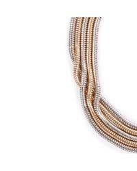 Warehouse - Metallic Snake Chain Choker - Lyst