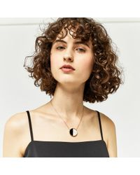 Warehouse - Black Resin And Marble Drop Necklace - Lyst