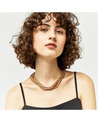 Warehouse - Metallic Multi Chain Necklace - Lyst
