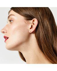 Warehouse - Metallic Diamante Shape Earring 3 Pack - Lyst