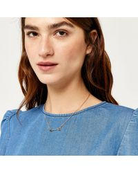 Warehouse - Multicolor Black Stone Arrow Necklace - Lyst