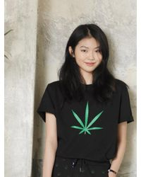Chubasco | M T Shirt Big Weed Black M17102[unisex] | Lyst