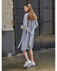 COLLABOTORY | Blue B7ama4021m Stripe Summer Shirt Dress | Lyst