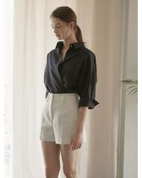 NILBY P - Blue Two Way Wrap Shirts Na - Lyst