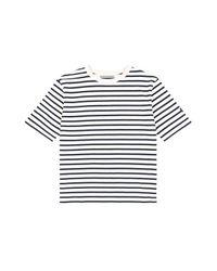 W Concept - Blue [exclusive] Lv 38 Short Sleeve Stripe T-shirt 2 Color - Lyst