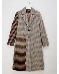 W Concept - Multicolor El Coat_without A Fur_ - Lyst