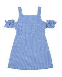 Noir Jewelry - Blue Check Dress - Lyst