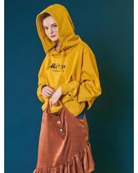 ANOTHER A - Retro Hoodie_yellow - Lyst