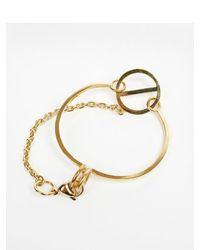 W Concept - Metallic Gold Chain Point Bracelet Dl17ssbc02gdf - Lyst