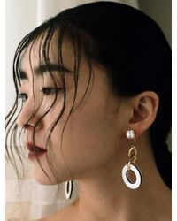 VON DITOLE - White Sure Hole Earring - Lyst