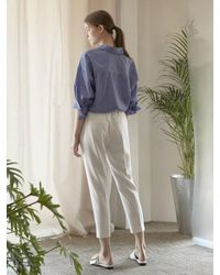 NILBY P - White Summer Banding Pants Wh - Lyst