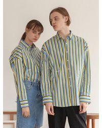 TARGETTO - Blue [unisex] Stripe Shirt Sky - Lyst