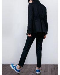 W Concept - Black Flap Pocket Belted Jacket - Lyst