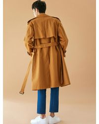 BONNIE&BLANCHE - [unisex] Windy Trench Coat Brown for Men - Lyst