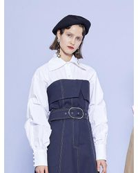 W Concept - Blue Eiffel Long Dress - Lyst