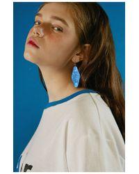 ADER error - Ader Hotel Key Earring (blue) - Lyst