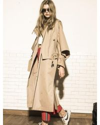 OUAHSOMMET - Natural Rider Trench Two-in-one Coat_bg - Lyst