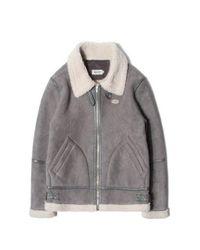 SAINTPAIN [unisex] Sp Hackney Suede Sharling Jacket-gray
