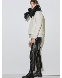 W Concept - [unisex] White Shearing Effect Wool Jacket - Lyst