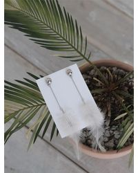 CLUT STUDIO - White 1 2 Feather Earrings Ivory - Lyst
