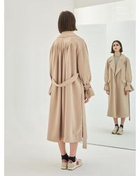 COLLABOTORY - Natural Baama1001m Soft Oversize Belted Trench - Lyst