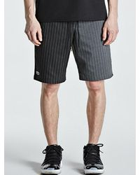 LAYER UNION - Contrast Stripe Band Shorts Black for Men - Lyst