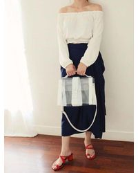 COMME.R - White Nude Bag_ 2colors - Lyst