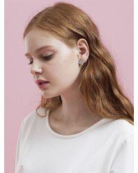 VERT BERRY - Multicolor Sakura Blossom Earring_white - Lyst