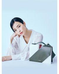W Concept - Multicolor Webbing Flip Bag Khaki - Lyst