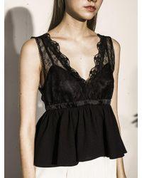 OUAHSOMMET - Black Lace Empire Buistier_bk - Lyst