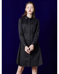 W Concept | Blue Lace Trench Dress | Lyst