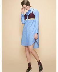 W Concept | Blue Bel Shirt Dress | Lyst