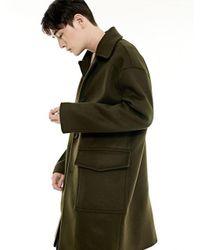 BONNIE&BLANCHE   Green Single Overfit Coat_khaki for Men   Lyst