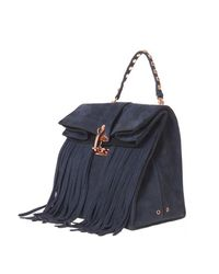 W Concept - Blue Paper Tessel Bag Navy - Lyst