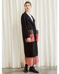 TIBAEG - Pink Fur Pocket Coat - Lyst