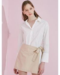 W Concept - Latte Mix Shirt White - Lyst