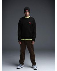 MAHAGRID - Small Arclogo Crewneck Black for Men - Lyst