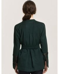W Concept - Green Belted Wrap Jacket - Lyst