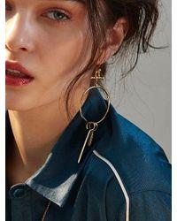 W Concept - Metallic Swing Stick Earring - Lyst