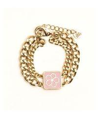 VERT BERRY - Metallic Sakura Blossom Chain Bracelet_pink - Lyst