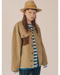 W Concept - Natural [unisex] Modern Gypsy Cotton Trucker Jacket Beige - Lyst