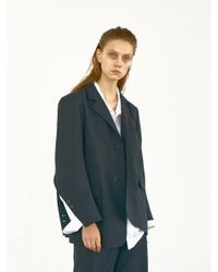 Bouton - Blue Manly Slit Blazer-navy Stripe - Lyst
